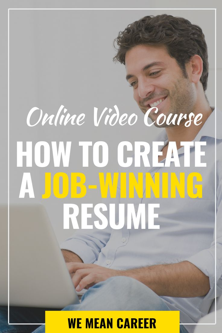 Looking for resume tips sign up for our online video