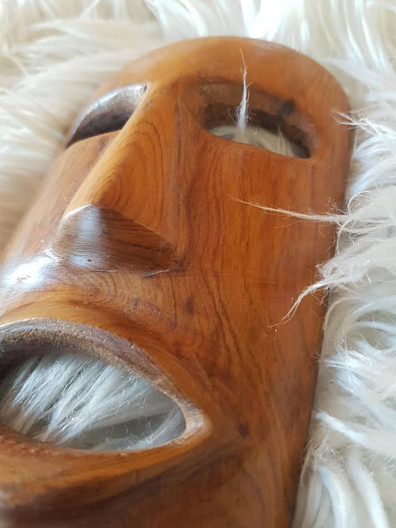 African wood mask African wood art tribal mask hand carved