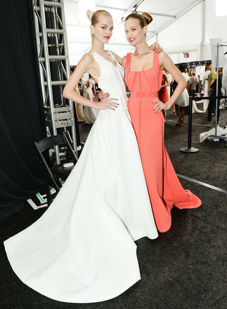 Models Backstage at the Carolina Herrera Show