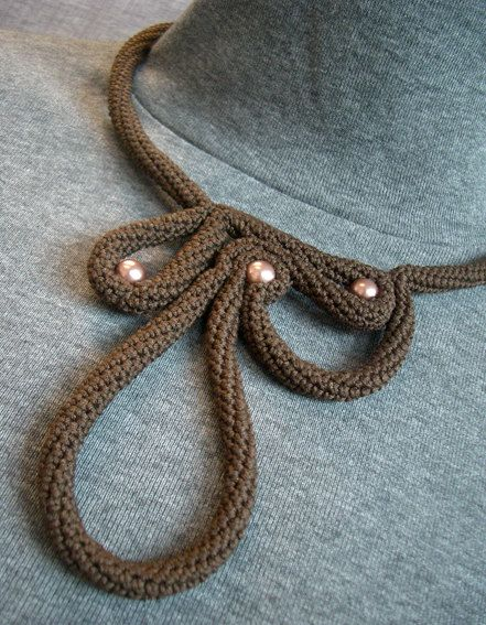 Labyrinth #Necklace por Donnaraita en Etsy #tricotin