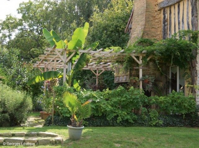 jardin exotique pergola en bretagne terrasses et jardins pinterest jardin exotique. Black Bedroom Furniture Sets. Home Design Ideas