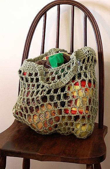 Reusable Crocheted Grocery Bag Pattern