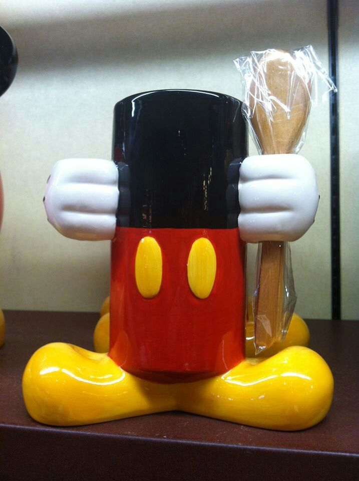 Mickey Utensil Holder Disney Home Decor Pinterest