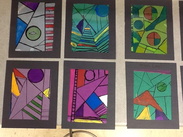 WHAT'S HAPPENING IN THE ART ROOM??: 4th Grade Stained Glass