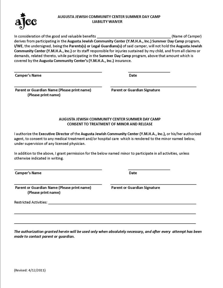 Liability Waiver Sample Printable Sample Liability Release Form
