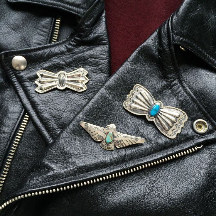 Larry Smith Pins. (made in japan, craftsmanship, silver, turquoise, thunderbird, butterfly)