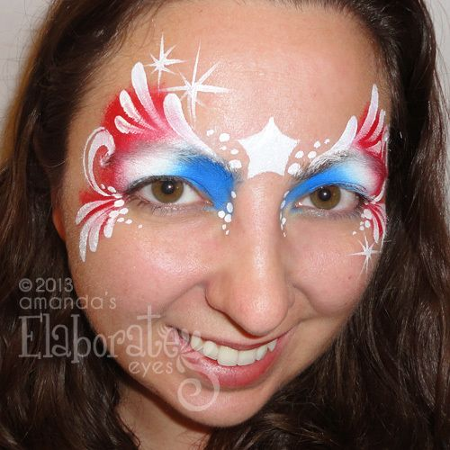 fourth of july face painting ideas | Happy 4th of July!