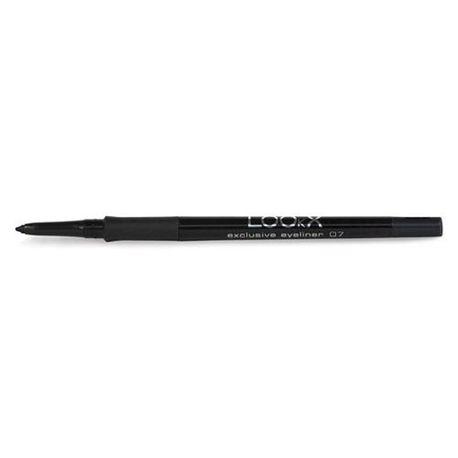 LOOkX Exclusive eyeliner Nr.07 Deep black matt is een waterproof oogpotlood op basis van speciale kleurpigmenten die direct voor een optimale, matte dekking zorgen. Tip: Combineer LOOkX Exclusive eyeliner Nr.07 Deep black matt met LOOkX Mascara Ultra wear en LOOkX Creamy eyeshadow voor een complete waterproof oogmake-up. #LOOkX #Eyeliner #BeautyinaBox