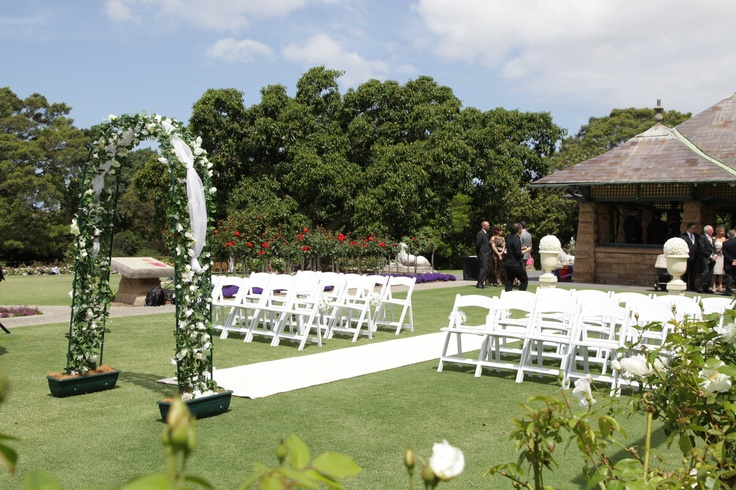 Rose Garden Royal Botanic Gardens Sydney Prepared For A Wedding Garden Weddings Pinterest