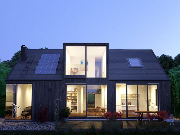 Skandinavisches Aussendesign On Behance Behance Endesign Skandinavisches Bungalow Exterior House Exterior Exterior Design