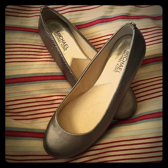 MICHAEL KORS FLATS NWT muted gold Michael Kors slip-on flats. Dress up or down! Cute!! MICHAEL Michael Kors Shoes Flats & Loafers