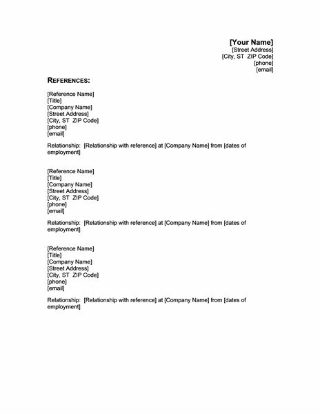 Best 25+ Resume references ideas on Pinterest Resume ideas - employment reference letters