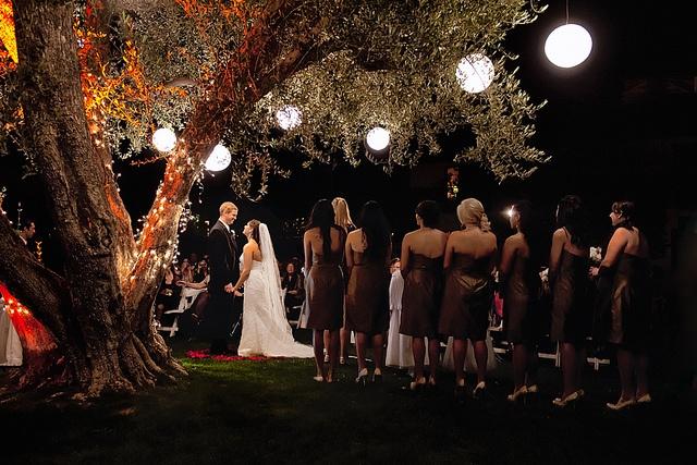 Night Desert Wedding