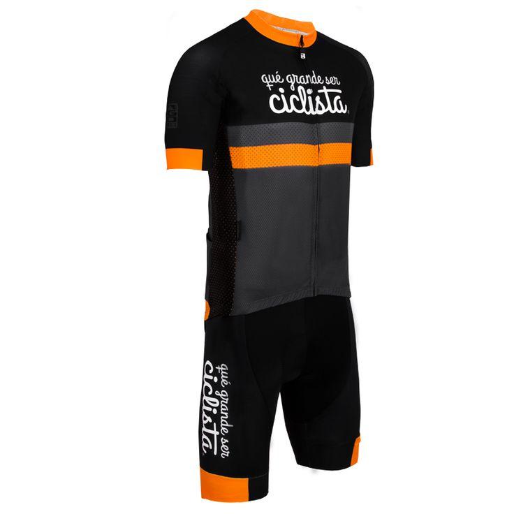 Conjunto #maillot y #culotte de la marca qué grande ser ciclista. #cycling #jersey