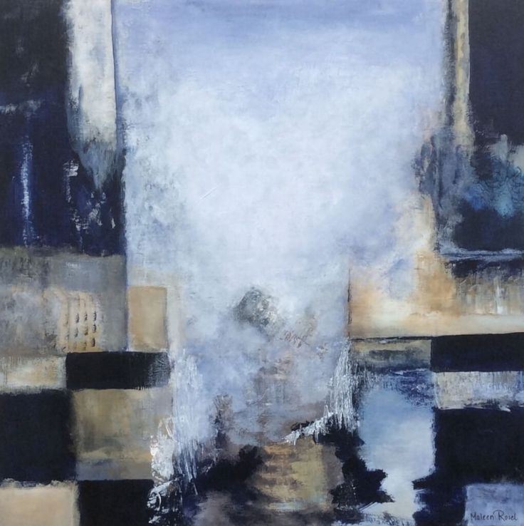 Abstrakt maleri 100x100 cm