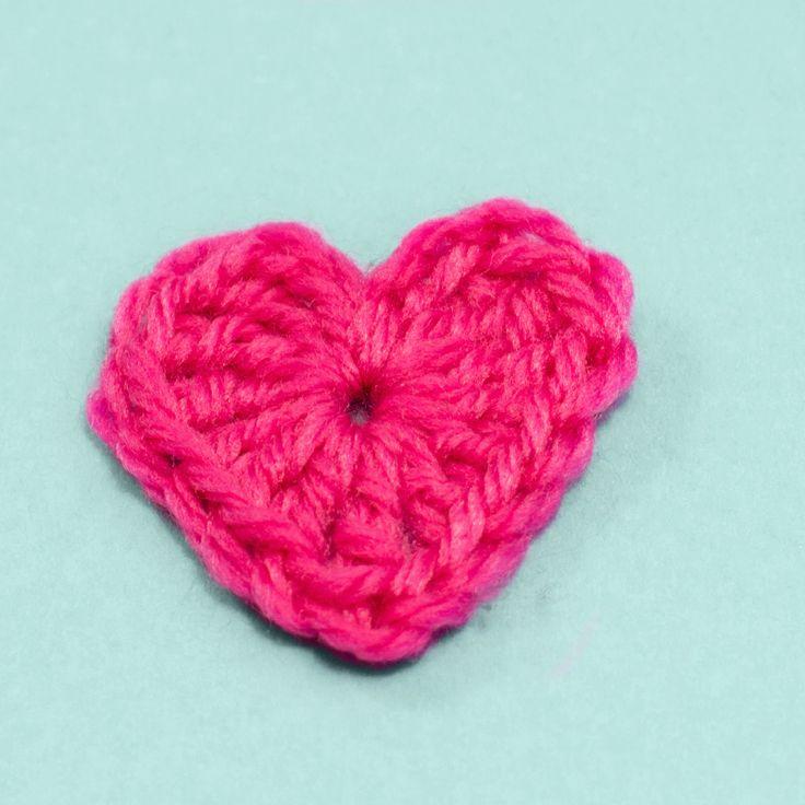 Easy Free Heart Crochet Pattern via Hopeful Honey