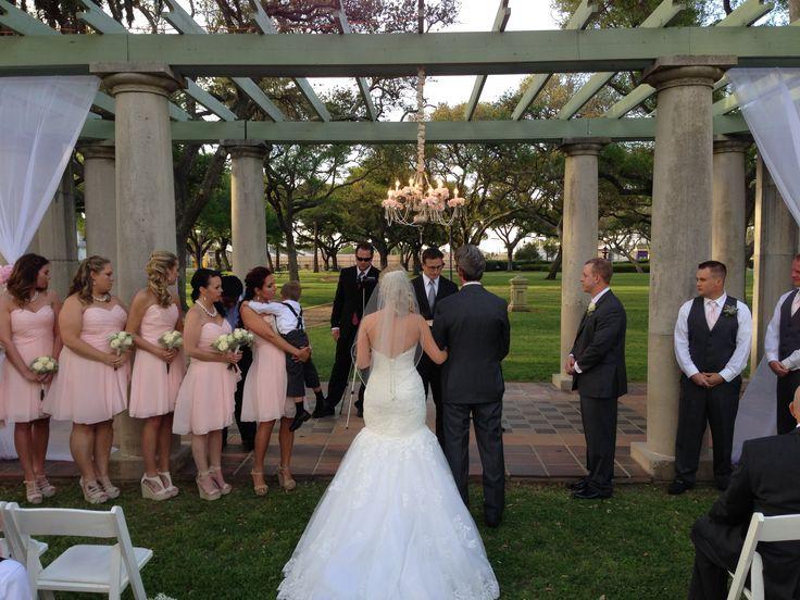 Garten Verien Wedding Chopin Mon Ami Catering Galveston, TX