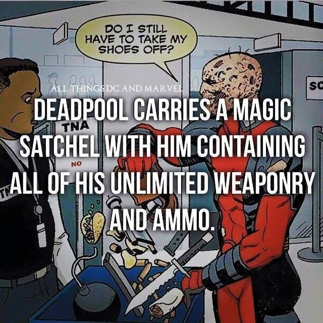 Follow @eNebriated for more awesome Geek Content! Deadpool Carries a magic…