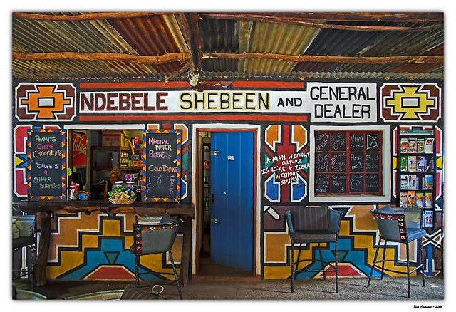 Africa | Ndebele Shebeen and General Dealer. Lesedi, near Johannesburg, South Africa | ©Nico Conradie