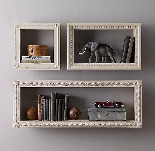 Hand-Carved Display Shelf - Taupe rhkids