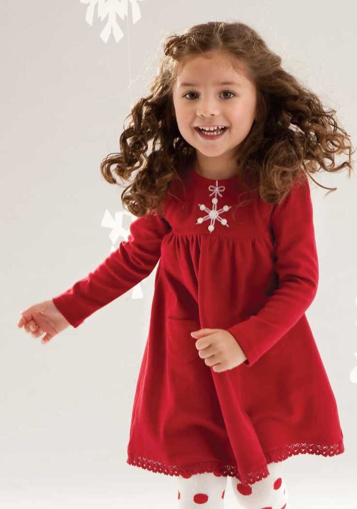 Le Top Girls Snowflake Dress with Crochet Hem – Jingle All The Way