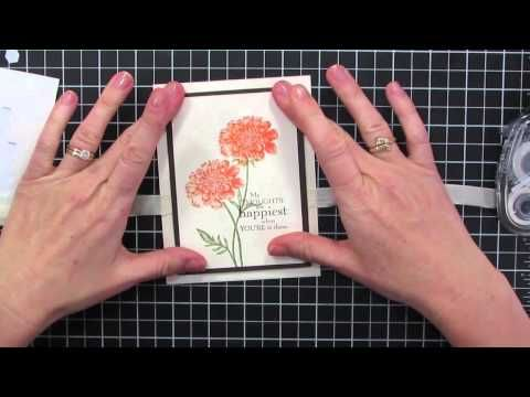 """""""The top 10 things every stamper needs to know"""" video series starts with how to tie a flat knot and the right way to apply adhesive! http://catherinepooler.com"""