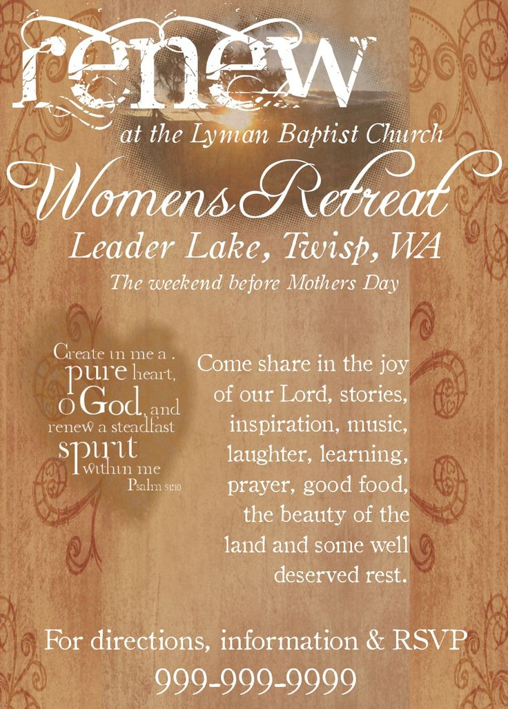 Women's Retreat flyer inspiration