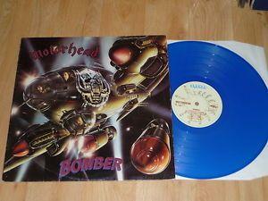 MOTORHEAD - Bomber - BLUE VINYL LP - BRONZE BRON 523