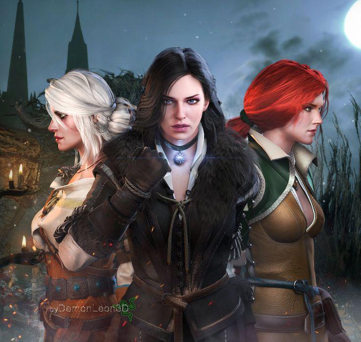 The Witcher - Ladies by DemonLeon3D on DeviantArt