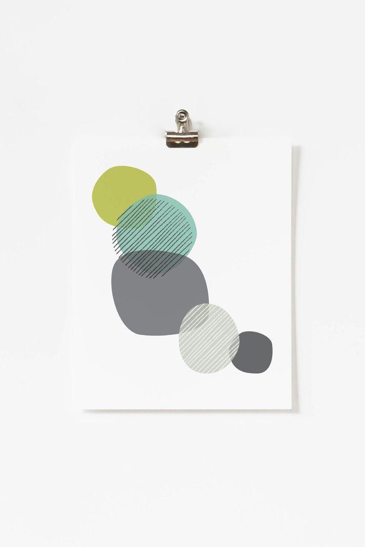 Blue Pebbles Art Print by Jaymee Srp