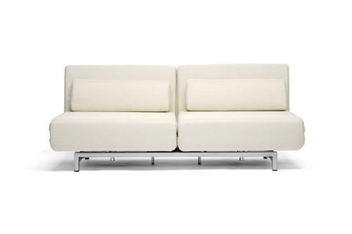 Cream white sofa with a matte finish