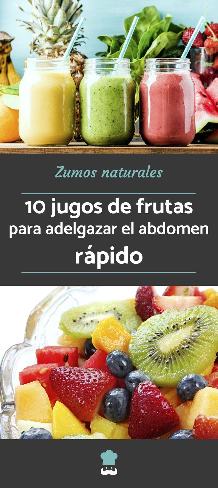 Jugos y licuados de frutas y verduras para bajar de peso