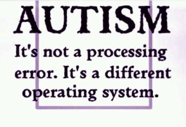 A Note about Autism. Found it on FB.