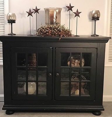 broyhill attic heirlooms lighted buffet/hall cabinet