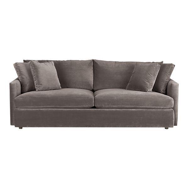 Taupe Velvet Sofa: I Love This Sofa...microfiber That Looks Like Velvet And