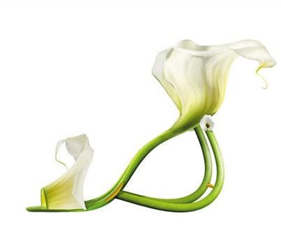 pretty!!!! From Art Style Online enjoy this incredible shoe inspired by flowers. http://artstyleonline.com/wp-content/uploads/2009/06/shoes.jpg