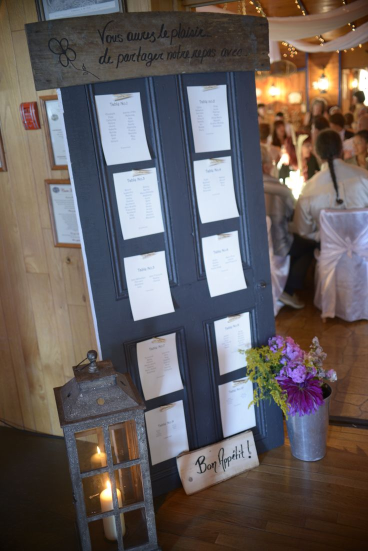 Shabby chic rustic wedding Tables Place your guests