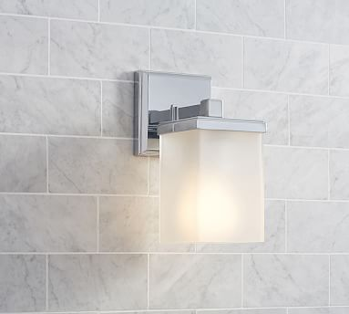 The Bath Lighting At A Boutique Hotel In Lower Manhattan Inspired This  Collection. Our Alcott Single Sconce Features A Square Back Plate And A  Rectangular ...
