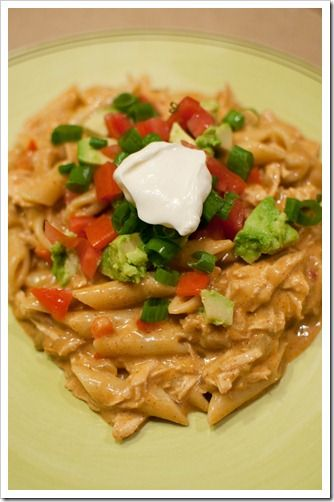 Chicken Enchilada Pasta - ChickenEnchilada pasta recipe dinner Substitute rice pasta for