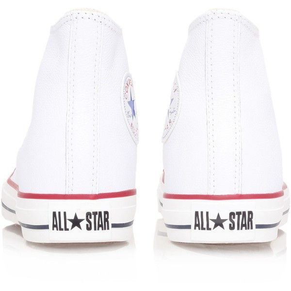 Ctas Leather Hi Converse White ($87) ❤ liked on Polyvore featuring men's fashion, men's shoes, men's sneakers, white, converse mens sneakers, mens white sneakers, mens black leather high top sneakers, mens leather sneakers and mens leather high top shoes