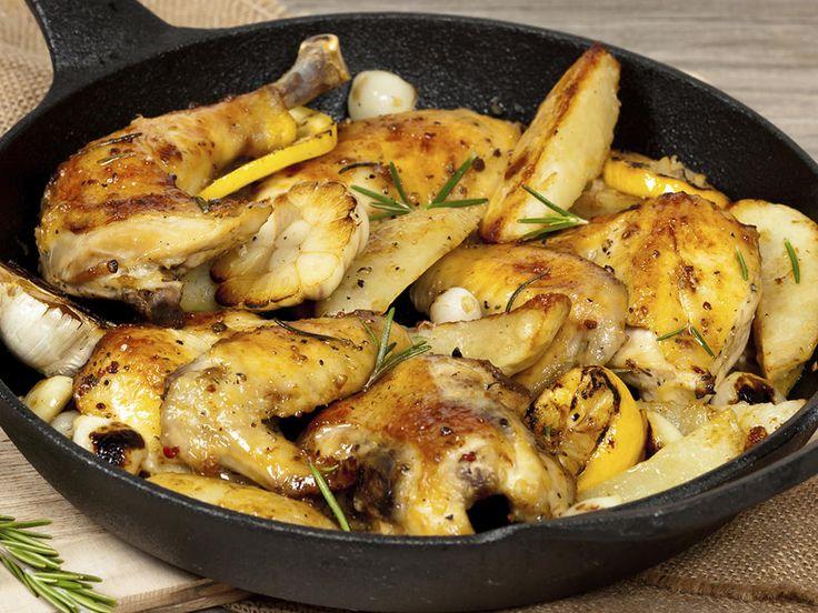 Kyllinglår med poteter og grønnsaker i form