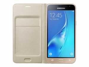 SAMSUNG Flip Cover Galaxy J3 Złoty EF-WJ320PBEGWW