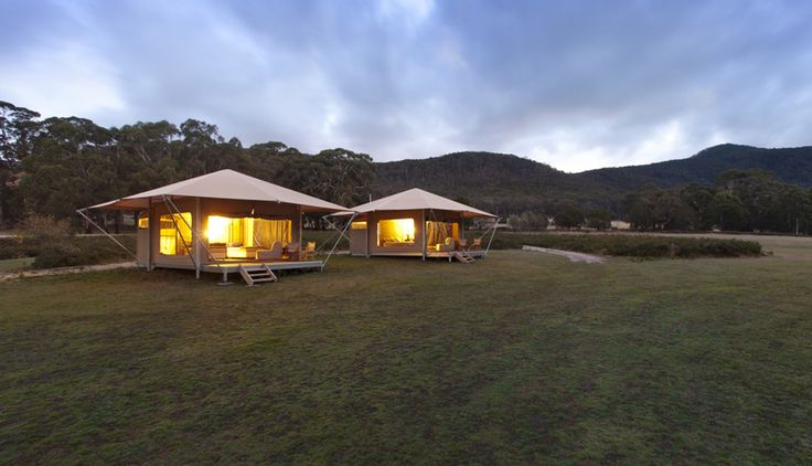 Accommodation - Our beautiful tents at Cave Hill Creek • Beaufort, Victoria