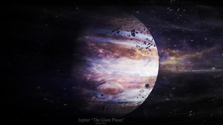 Jupiter, the giant planet, астероиды, звезды, юпитер