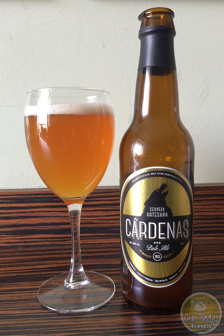 29-Apr-2015 : Cárdenas Pale Ale by Cervezas Cárdenas. Beer from Andalusia. Very mild bitterness. Low alcohol content, makes this a sessionable pale ale. #ottbeerdiary