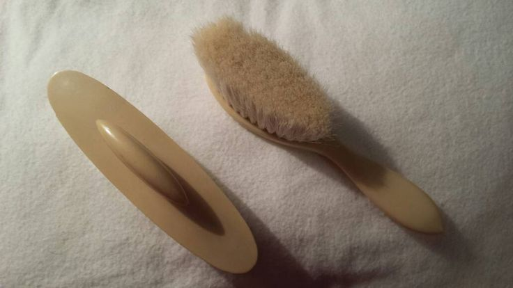 Vintage French Ivory celluloid nail buff in case & soft brush 1920s by KathleenNCo on Etsy