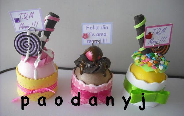 Cupcakes de foami - Imagui