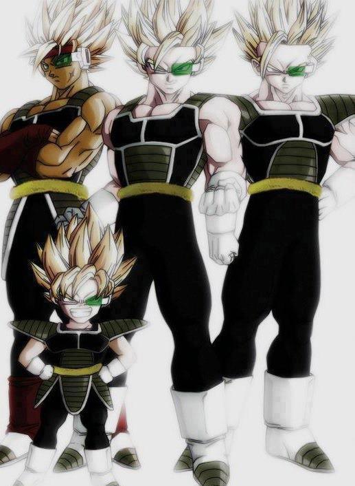 Bardock, Goku, Gohan and Goten