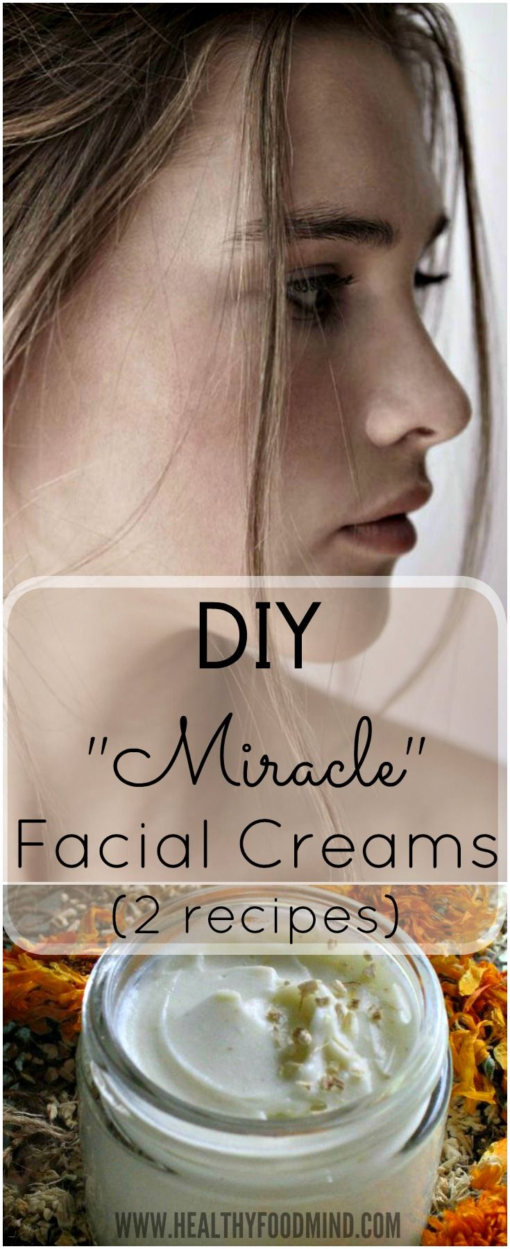 If you've decided to use only natural products for skin care, like me, then you must try these recipes for homemade facial cremes.