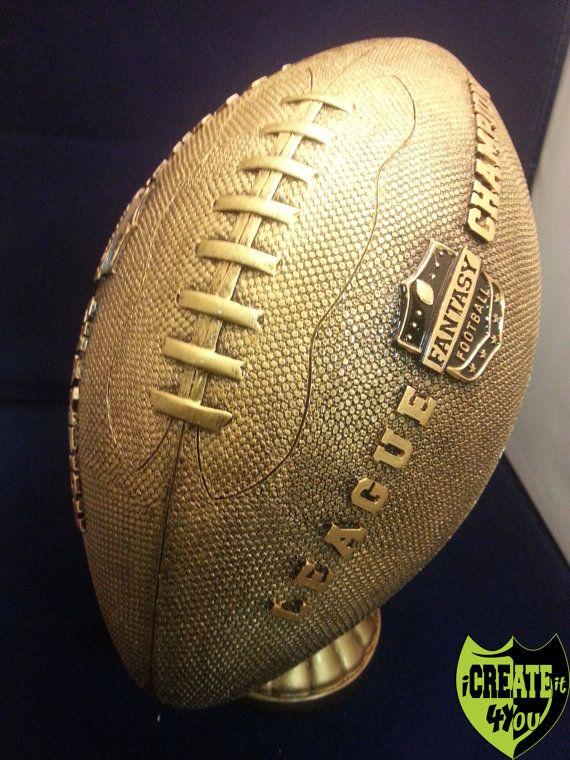 Jumbo Gold Imprinted FANTASY Football Trophy on 18 Year Base